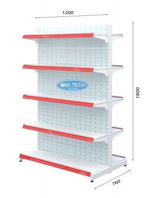 Kệ đôi tôn đục lỗ 5 tầng x C180 x D90 (cm)