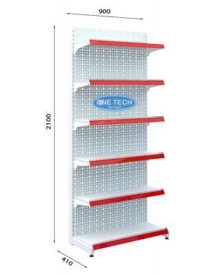 Kệ đơn tôn đục lỗ 6 tầng x C210 x D90 (cm)
