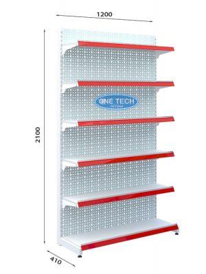 Kệ đơn tôn đục lỗ 6 tầng x C210 x D120 (cm)