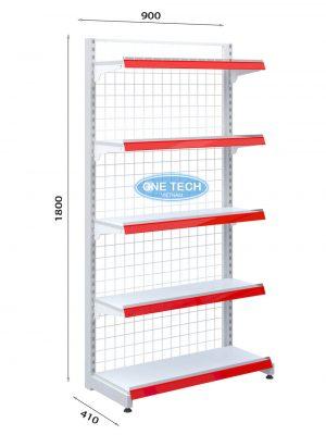 Kệ siêu thị đơn lưng 5 tầng x c180 x c90 (cm)